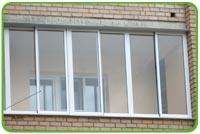 Остекление балконов и лоджий алюминиевым профилем Provedal